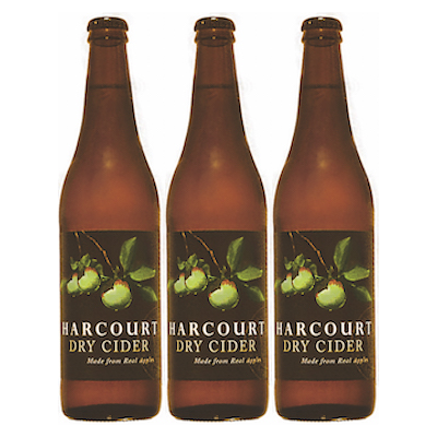 Harcourt Dry Apple Cider (500ml – 15 Bottles / Case)