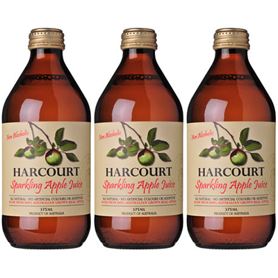 Harcourt Sparkling Apple Juice (375ml – 24 Bottles / Case)