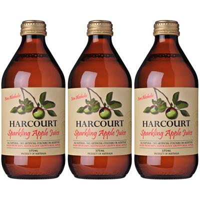 Harcourt Sparkling Apple Juice (375ml – 24 Bottles / Case)