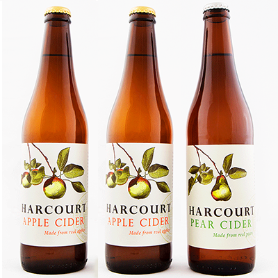 Harcourt Mixed Apple/Pear Cider Duo (500ml – 15 Bottles / Case)