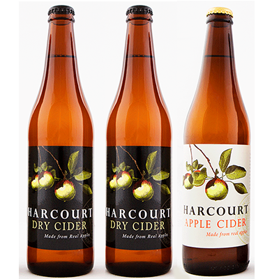 Harcourt Mixed Dry Apple Cider Duo (500ml – 15 Bottles / Case)