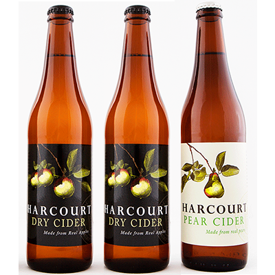Harcourt Mixed Dry Apple/Pear Cider Duo (500ml – 15 Bottles / Case)