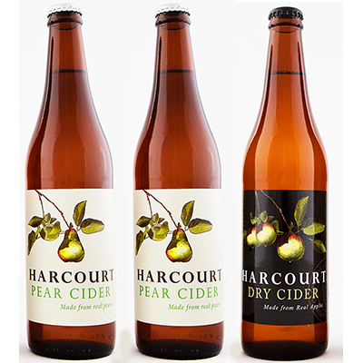 Harcourt Mixed Pear/Dry Apple Cider Duo (500ml – 15 Bottles / Case)