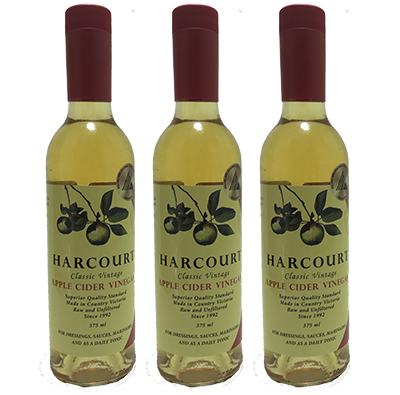 Harcourt Apple Cider Vinegar – 8YO (375ml – 12 Bottles / Case)