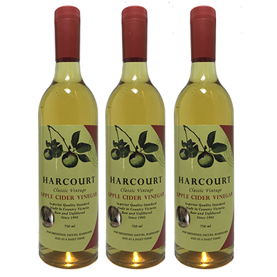Harcourt Apple Cider Vinegar – 8YO (750ml – 6 Bottles / Case)