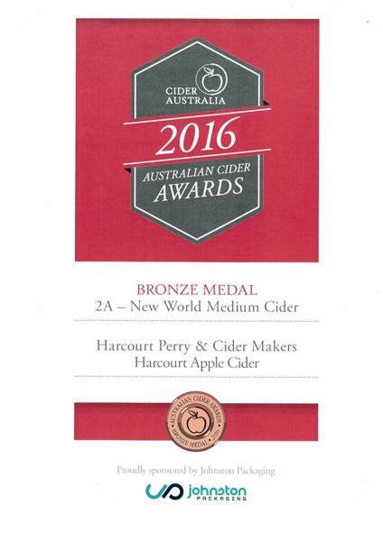 Cider Australia 2016 Apple Cider Bronze