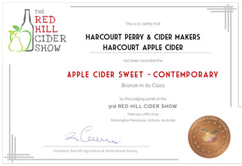 Red Hill Cider 2019 - Apple Cider Sweet - Contemporary