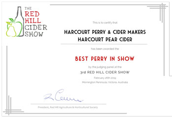 Red Hill Cider Show 2019 - Perry Best In Show