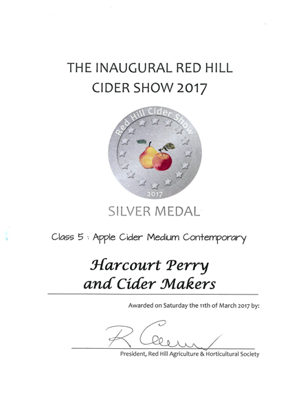 Red Hill 2017 Apple Silver