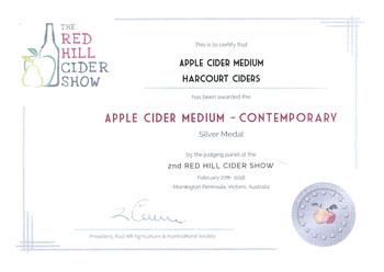 Red Hill Cider 2018 - Apple Cider Medium - Contemporary