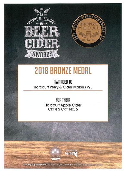 Royal Adelaide - 2018 - Apple Cider - Bronze