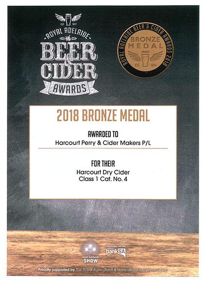 Royal Adelaide - 2018 - Dry Cider Bronze
