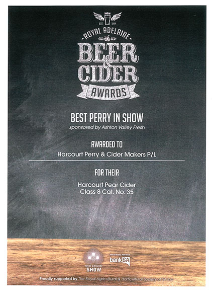Royal Adelaide - 2018 - Pear Cider (Perry) - Best In Show