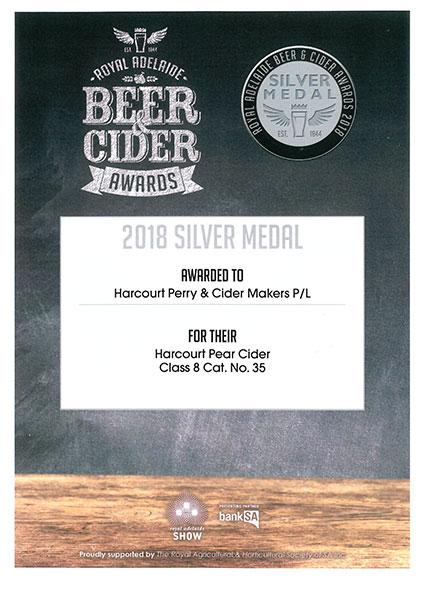 Royal Adelaide - 2018 - Pear - Silver
