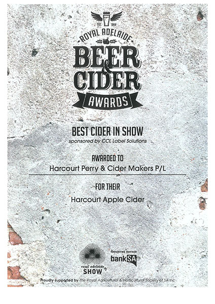 Royal Adelaide 2019 Apple Cider Best in Show