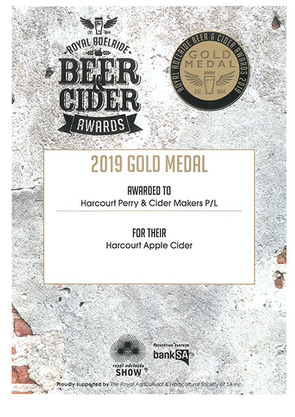 Royal Adelaide 2019 Apple Cider Gold